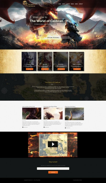 World of Calibran - Website Design