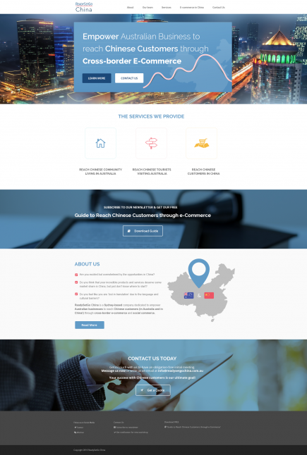ReadySetGoChina - Website Design & Development
