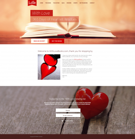 With Love Book - Website Design