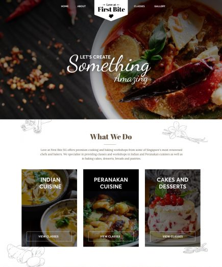 Cooking Workshops Website